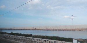 Ilustrasi tanggul laut atau National Capital Integrated Coastal Development (NCICD) tipe A di pantai utara Jakarta. Tanggul ini untuk menanggulangi banjir rob. (Kompas.com/Kurnia Sari Aziza)