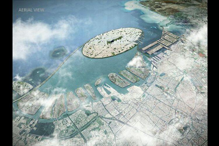 Konsep Kota Baru 'Jakarta Jaya' di Proyek Pulau Reklamasi Teluk Jakarta