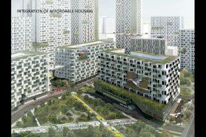 Perumahan murah dalam konsep reklamasi Jakarta Jaya: The Green Manhattan.(SHAU Architects)
