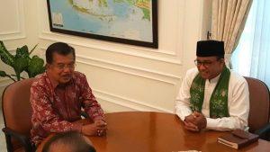 Wakil Presiden Jusuf Kalla dan Gubernur DKI Anies Baswedan