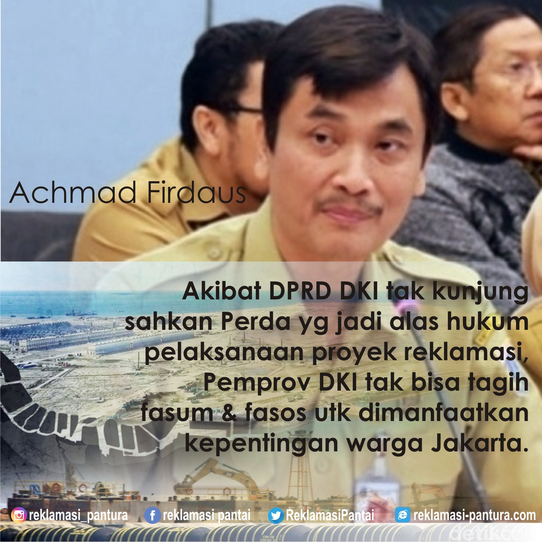 Fasum-fasos reklamasi terganjal Raperda di DPRD