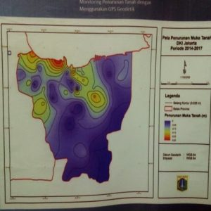 Peta penurunan muka tanah DKI Jakarta periode 2014-2017. (Foto:Prabarini Kartika/kumparan)